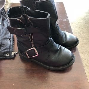 Toddler Moto black boots
